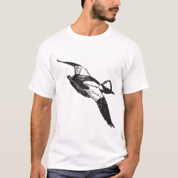 Men's Basic T-Shirt with Bufflehead Sketch design