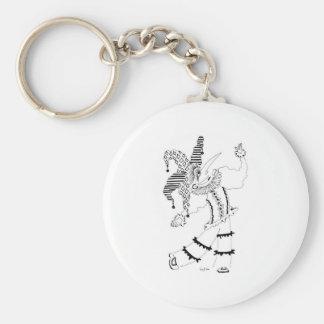 Buffon Basic Round Button Keychain