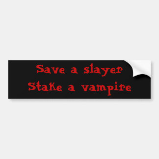 Buffy bumper fans bumper sticker