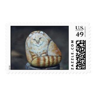 """Buffy"" cat rock stamp"
