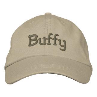 Buffy Embroidered Baseball Cap / Hat Khaki