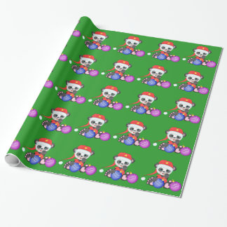 Buffy Santa and Christmas ornaments Wrapping Paper