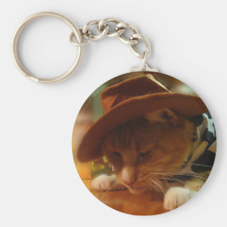 Buffy the Cowgirl Cat Keychains
