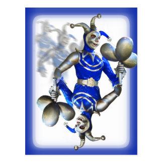 Bufón azul tarjeta postal