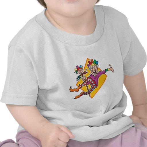 Bufón del dibujo animado camisetas