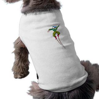 Bufón que camina del zanco ropa de perros