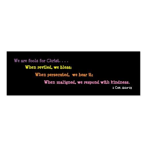 Bufones para la señal de Cristo Tarjetas De Visita Mini