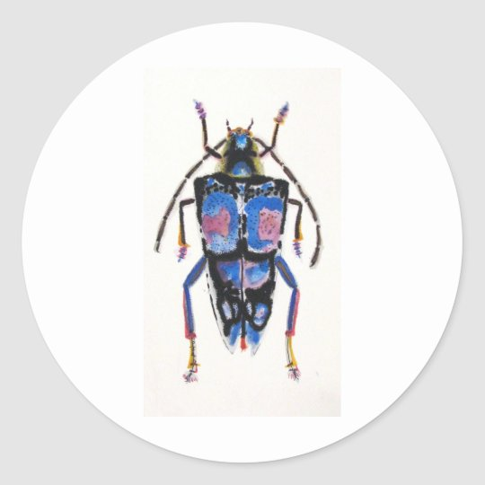 Bug 009 classic round sticker