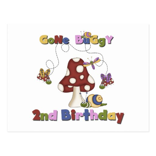 Bug 2nd Birthday T-shirts and Gifts Post Cards