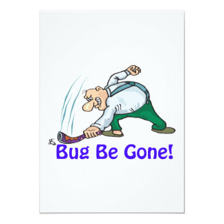 Bug Be Gone 5x7 Paper Invitation Card