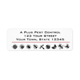Bug Border, Pest Control Label