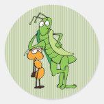 Bug Buddies Classic Round Sticker