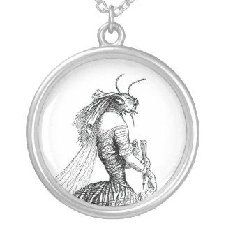 Bug Bustle Round Pendant Necklace