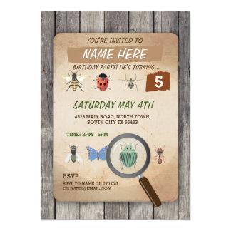 BUG CATCHER SCAVENGER HUNT KIDS BIRTHDAY PARTY CARD