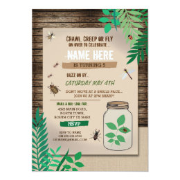 Hunting birthday invitations announcements zazzle bug catcher scavenger hunt kids birthday party card filmwisefo Images