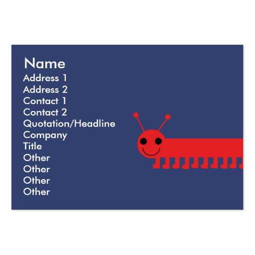 Bug - Chubby Large Business Cards (Pack Of 100)