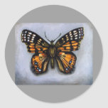 Bug Collection-Painted Lady Butterfly Round Sticker