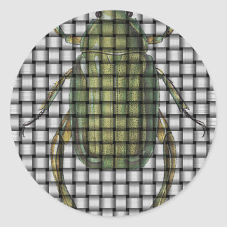 Bug Collection - Weave Beetle Classic Round Sticker