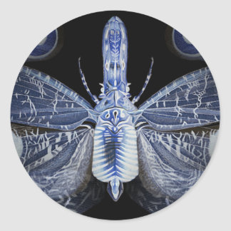 Bug Collection - X-ray Bug Classic Round Sticker