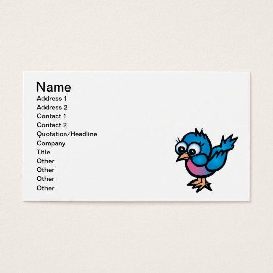bug-eye_bird1 CUTE BLUEBIRD BIRD CARTOON GRAPHICS Business Card