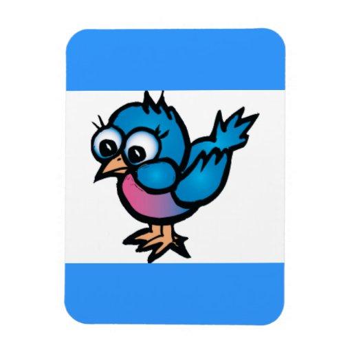 bug-eye_bird1 CUTE BLUEBIRD BIRD CARTOON GRAPHICS Flexible Magnets