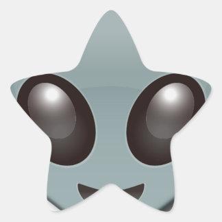 Bug Eyed Alien Star Sticker