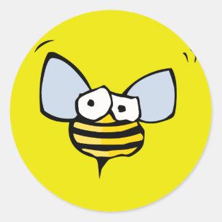 bug eyed bee classic round sticker