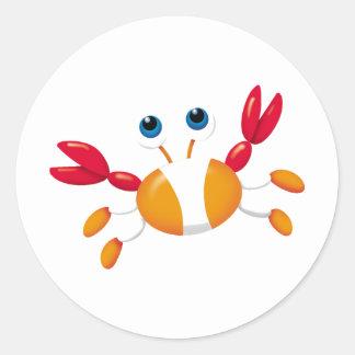 Bug-eyed Crab Classic Round Sticker