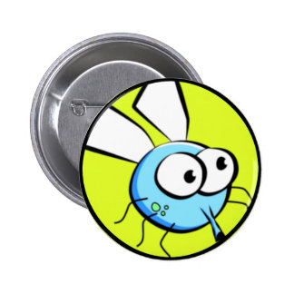 Bug Eyed Fly Face 2 Inch Round Button