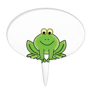 bug eyed frog cake topper
