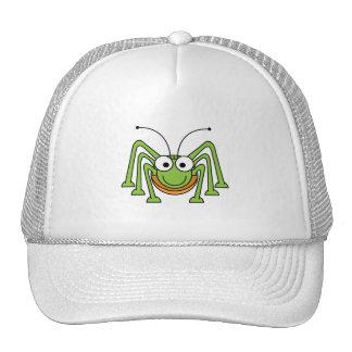 Bug Eyed Grasshopper Cartoon Trucker Hats