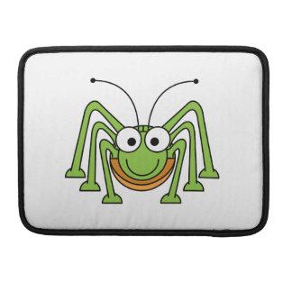 Bug Eyed Grasshopper Cartoon Sleeves For MacBook Pro