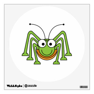 Bug Eyed Grasshopper Cartoon Room Decals
