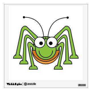 Bug Eyed Grasshopper Cartoon Wall Decals