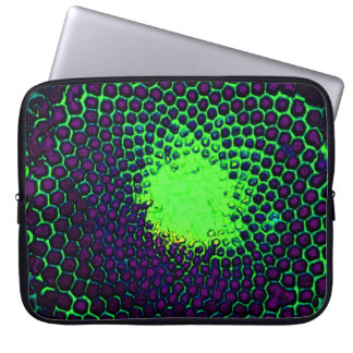 Bug Eyed Honeycomb purple green Computer Sleeve