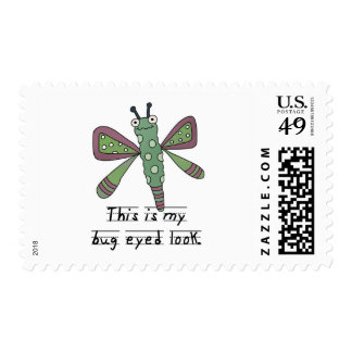 Bug Eyed Look T-shirts and Gifts Stamps