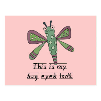 Bug Eyed Look T-shirts and Gifts Postcard