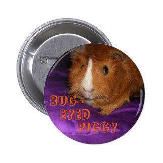 Bug-Eyed Piggy Guinea Pig Button