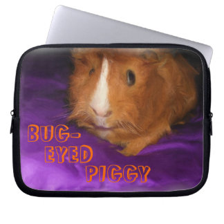 BUG-EYED PIGGY Guinea Pig Laptop Sleeve