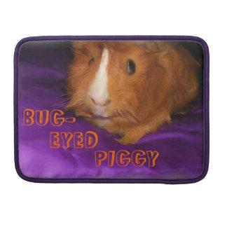 BUG-EYED PIGGY Guinea Pig Macbook Pro Sleeve