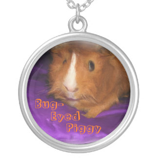 Bug-Eyed Piggy Guinea Pig Necklace