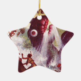 Bug Eyed Sea Monster Ceramic Ornament