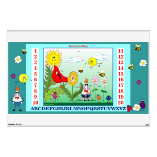 Bug-Eyes & WIngs ABC's and Numbers Wall Pop Room Stickers
