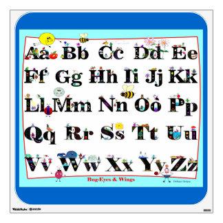 Bug-Eyes & WIngs Alphabet Wall Pop Room Sticker