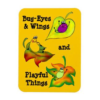 Bug-Eyes & Wings & Playful Things Premium Magnet