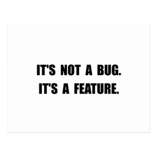 Bug Feature Postcard