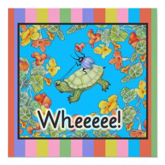 """Bug Fun Birthday Party Invitations 5.25"""" Square Invitation Card"""