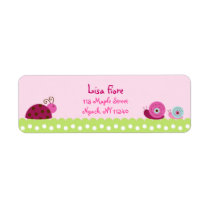 Bug Garden Ladybug Snail Address Labels