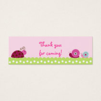 Bug Garden Ladybug Snail Party Favor Gift Tags