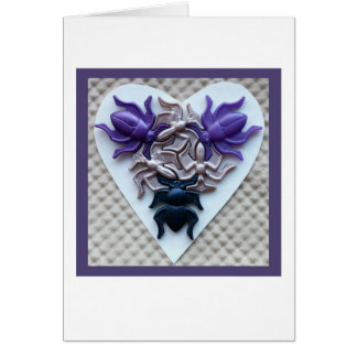 Bug Heart Card White